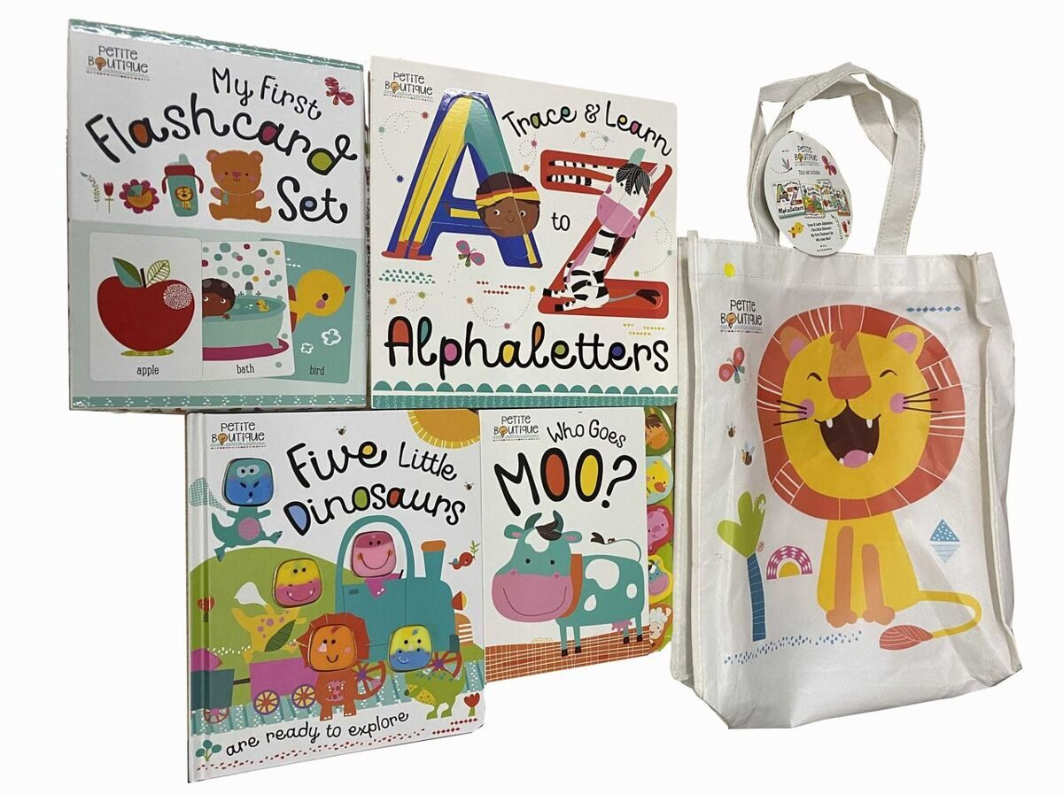 E133 Petite Boutique Collection 3 Books with Flashcard in a bag - Board Books-Age 3+