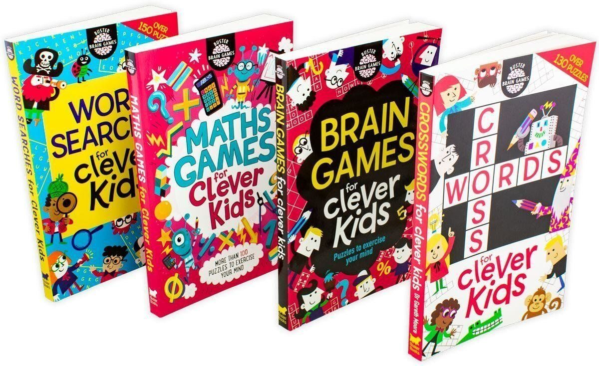 4P13 Buster Brain Games for Clever Kids 4 Book Collection - Ages 7-9 - Paperback - Gareth Moore