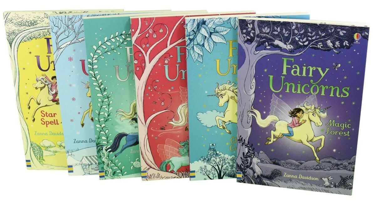 E132 Usborne Fairy Unicorns Collection 6 Books Set - Ages 7-9 - Paperback - Zanna Davidson