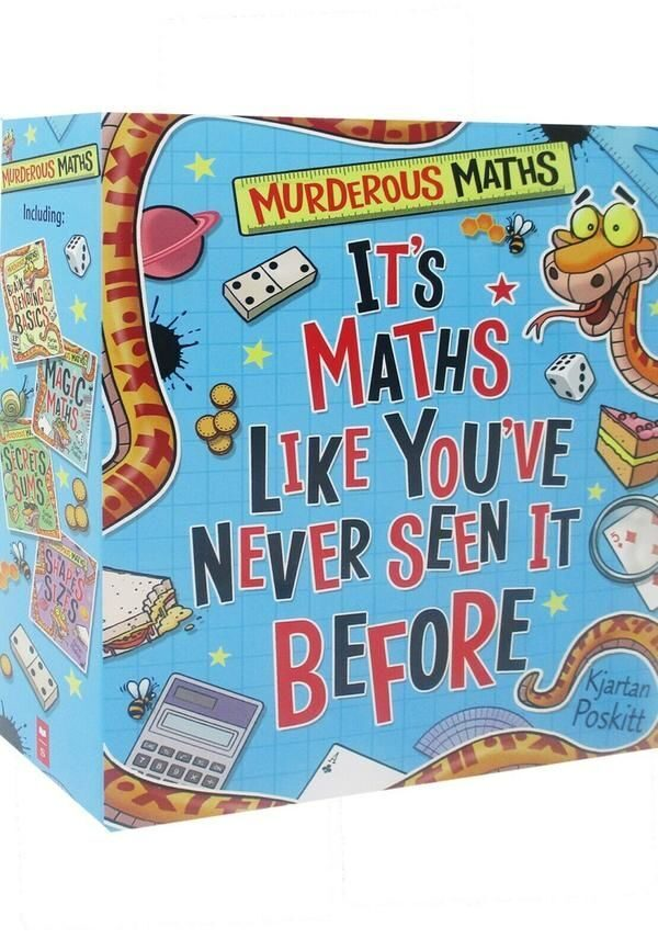 4P53 Murderous Maths 4 Book Set Collection By Kjartan Poskitt
