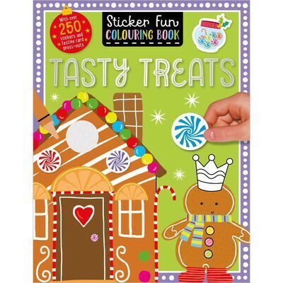 E73 Tasty Treats: Sticker Fun Colouring Book